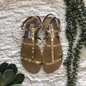 b2bfdfd4f92 Women s Steve Madden Gold Gladiator Sandals on Poshmark